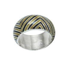 Exporter !! 925 Sterling Silver Enamel Ring Grossiste