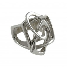 Huge Modern Style!! Handmade 925 Sterling Silver Ring