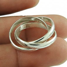 HOT 925 Sterling Solid silver Three laps Ring wholesale Price