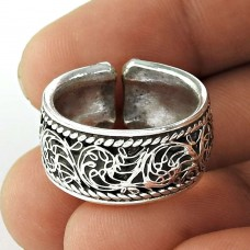 Natural! Handmade 925 Sterling Silver Ring