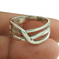 Solid 925 Sterling Silver Fashion Ring Handmade Silver Jewellery