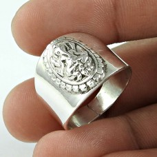 Rattling 925 Sterling Silver Ganesha Ring Fashion Jewellery