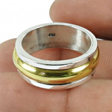 Rare Gold Plated 925 Sterling Silver Ring