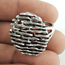 Stylish 925 Sterling Silver Handmade Filigree Ring