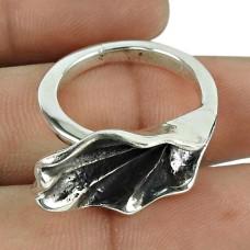 Pleasing Oxidised Sterling Silver Vinatge Handmade Ring