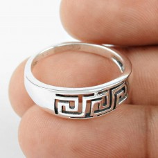 Classy Style!! Handmade 925 Sterling Silver Ring