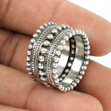 Large Stunning!! Handmade 925 Sterling Silver Ring Supplier India