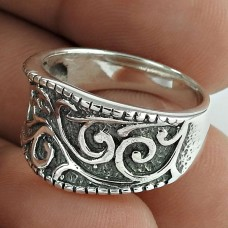 Classy! Oxidized 925 Sterling Silver Ring