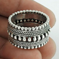 First Sight !! Oxidized 925 Sterling Silver Ring