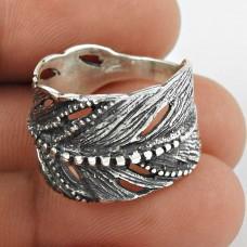 Dainty Daisy ! Leaf Design 925 Sterling Silver Ring Hersteller