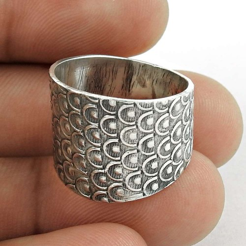 Amazing Design Solid Oxidized 925 Sterling Silver Ring