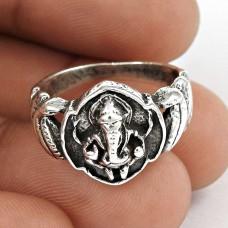 Draditions ! Ganpati 925 Sterling Silver Ring