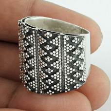 New Faceted ! 925 Sterling Silver Ring Fabricant