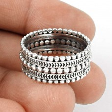 Love Circle Sterling Silver Ring Jewellery
