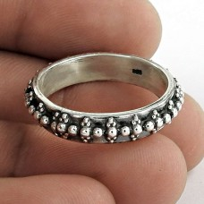 Chunky 925 Sterling Silver Band Ring Jewellery