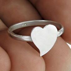 Exclusice Heart Shape 925 Sterling Silver Ring Jewellery