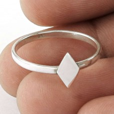 Bright Side ! 925 Sterling Silver Rhombus Ring Jewellery