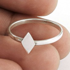 Deluxe ! 925 Sterling Silver Rhombus Ring Jewellery