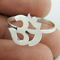 Indian Fashion !! 925 Sterling Silver OM Ring Jewellery