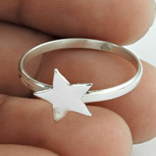 Big Relief 925 !! 925 Sterling Silver Star Ring Jewellery