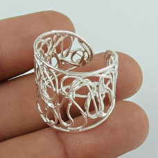 Pretty 925 Sterling Silver Filigree Ring Jewellery