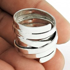 Handcrafted ! Solid 925 Sterling Silver Ring Supplier