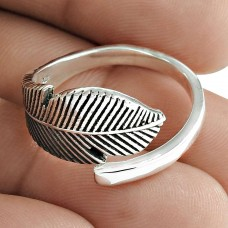 Leaf Ring Solid 925 Sterling Silver Stylish Jewelry Lieferant