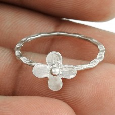 Sightly 925 Sterling Silver Flower Ring Vintage Jewelry