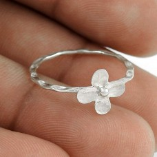 Perfect 925 Sterling Silver Flower Ring Jewelry