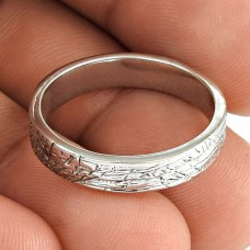 Solid 925 Sterling Silver Handmade Band