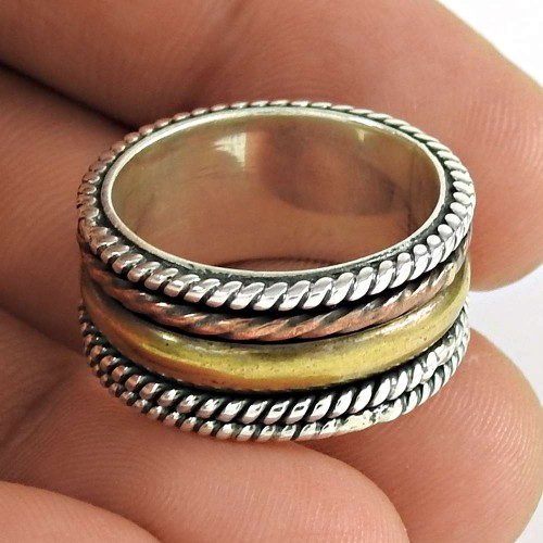 Women Beauty 925 Sterling Silver Spinner Ring