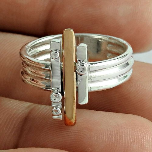 Before Time 925 Sterling Silver Geological Ring