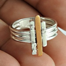 Big Fabulous 925 Sterling Silver Geological Ring