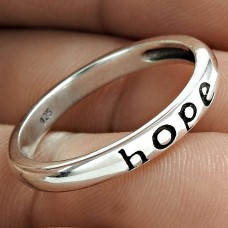 Beautiful Solid 925 Sterling Silver Hope Ring Valentine Woman Gift Jewelry