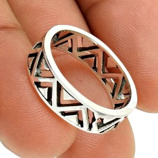 Solid 925 Sterling Silver Ring Handmade Band Jewelry S29