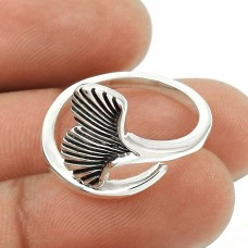 Ring Size 7.5 925 Solid Sterling Silver HANDMADE Indian Jewelry F17