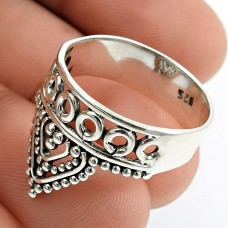 Solid 925 Sterling Silver Crown Ring Stylish Jewelry E71