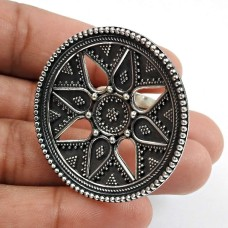 Solid 925 Sterling Oxidized Silver Ring Traditional Jewelry F72