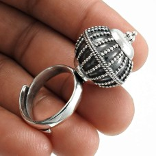 Oxidized 925 Sterling Solid Silver Ring Stylish Jewelry I72