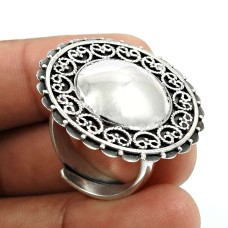 Solid 925 Sterling Silver Ring Indian Jewelry F73