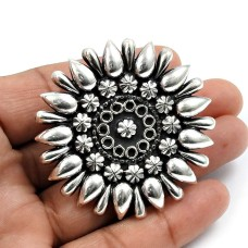 Solid 925 Sterling Silver Flower Ring Ethnic Jewelry Y74