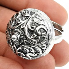 Solid 925 Sterling Silver Ring Vintage Jewelry G75