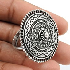 Solid 925 Sterling Silver Ring Stylish Jewelry K75