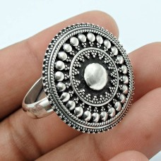 Solid 925 Sterling Silver Ring Ethnic Jewelry S75