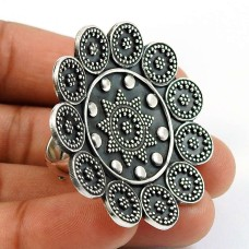 Solid 925 Sterling Silver Ring Indian Handmade Jewelry S76