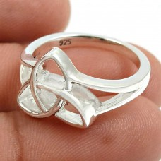 Solid 925 Sterling Silver Ring Handmade Indian Jewelry N77