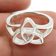 Solid 925 Sterling Silver Ring Traditional Jewelry P77