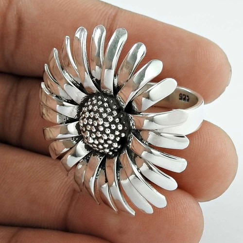 Stunning Natural Rich!! 925 Silver Ring