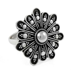 Ivy Hot Rava Work!! 925 Silver Ring