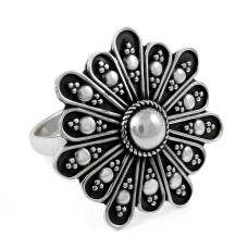 Ivy Hot Rava Work!! 925 Silver Ring